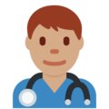 Man Health Worker: Medium Skin Tone on Twitter Twemoji 2.3