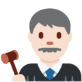 Man Judge: Light Skin Tone on Twitter Twemoji 2.3