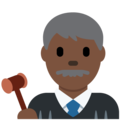 Man Judge: Dark Skin Tone on Twitter Twemoji 2.3