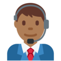 Man Office Worker: Medium-Dark Skin Tone on Twitter Twemoji 2.3