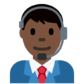 Man Office Worker: Dark Skin Tone on Twitter Twemoji 2.3