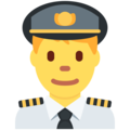 Man Pilot on Twitter Twemoji 2.3