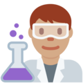 Man Scientist: Medium Skin Tone on Twitter Twemoji 2.3