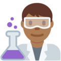 Man Scientist: Medium-Dark Skin Tone on Twitter Twemoji 2.3