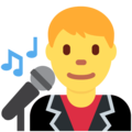 Man Singer on Twitter Twemoji 2.3