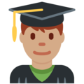 Man Student: Medium Skin Tone on Twitter Twemoji 2.3