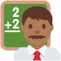 Man Teacher: Medium-Dark Skin Tone on Twitter Twemoji 2.3