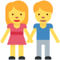 Man and Woman Holding Hands on Twitter Twemoji 2.3