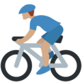 Man Biking: Medium Skin Tone on Twitter Twemoji 2.3
