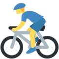 Man Biking on Twitter Twemoji 2.3