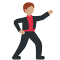 Man Dancing: Medium Skin Tone on Twitter Twemoji 2.3