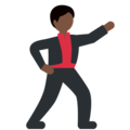 Man Dancing: Dark Skin Tone on Twitter Twemoji 2.3
