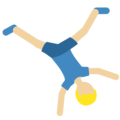 Man Cartwheeling: Medium-Light Skin Tone on Twitter Twemoji 2.3