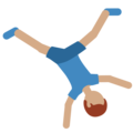 Man Cartwheeling: Medium Skin Tone on Twitter Twemoji 2.3