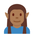 Man Elf: Medium-Dark Skin Tone on Twitter Twemoji 2.3