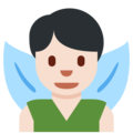 Man Fairy: Light Skin Tone on Twitter Twemoji 2.3