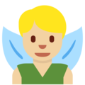 Man Fairy: Medium-Light Skin Tone on Twitter Twemoji 2.3