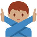 Man Gesturing No: Medium Skin Tone on Twitter Twemoji 2.3