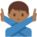 Man Gesturing No: Medium-Dark Skin Tone on Twitter Twemoji 2.3
