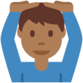 Man Gesturing OK: Medium-Dark Skin Tone on Twitter Twemoji 2.3