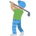 Man Golfing: Medium Skin Tone on Twitter Twemoji 2.3