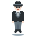 Man in Business Suit Levitating: Light Skin Tone on Twitter Twemoji 2.3