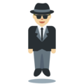 Man in Business Suit Levitating: Medium-Light Skin Tone on Twitter Twemoji 2.3