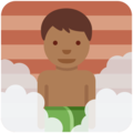 Man in Steamy Room: Medium-Dark Skin Tone on Twitter Twemoji 2.3