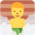 Man in Steamy Room on Twitter Twemoji 2.3
