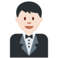 Man in Tuxedo: Light Skin Tone on Twitter Twemoji 2.3