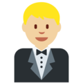 Man in Tuxedo: Medium-Light Skin Tone on Twitter Twemoji 2.3