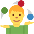 Man Juggling on Twitter Twemoji 2.3