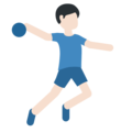 Man Playing Handball: Light Skin Tone on Twitter Twemoji 2.3