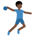 Man Playing Handball: Dark Skin Tone on Twitter Twemoji 2.3