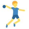 Man Playing Handball on Twitter Twemoji 2.3