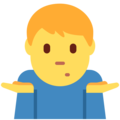 Man Shrugging on Twitter Twemoji 2.3