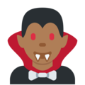 Man Vampire: Medium-Dark Skin Tone on Twitter Twemoji 2.3