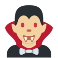 Man Vampire: Medium-Light Skin Tone on Twitter Twemoji 2.3