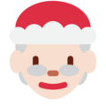 Mrs. Claus: Light Skin Tone on Twitter Twemoji 2.3