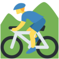 Person Mountain Biking on Twitter Twemoji 2.3