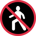 No Pedestrians on Twitter Twemoji 2.3