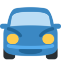 Oncoming Automobile on Twitter Twemoji 2.3