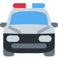 Oncoming Police Car on Twitter Twemoji 2.3