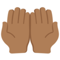 Palms Up Together: Medium-Dark Skin Tone on Twitter Twemoji 2.3