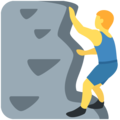 Person Climbing on Twitter Twemoji 2.3