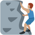 Person Climbing: Medium Skin Tone on Twitter Twemoji 2.3