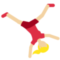 Person Cartwheeling: Medium-Light Skin Tone on Twitter Twemoji 2.3