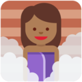 Person in Steamy Room: Medium-Dark Skin Tone on Twitter Twemoji 2.3