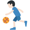 Person Bouncing Ball: Light Skin Tone on Twitter Twemoji 2.3