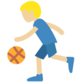 Person Bouncing Ball: Medium-Light Skin Tone on Twitter Twemoji 2.3